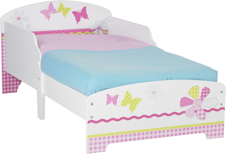 LANGRIA Toddler Kid Bed MDF Wooden Unicorn Theme Children Bedroom Furniture Pink