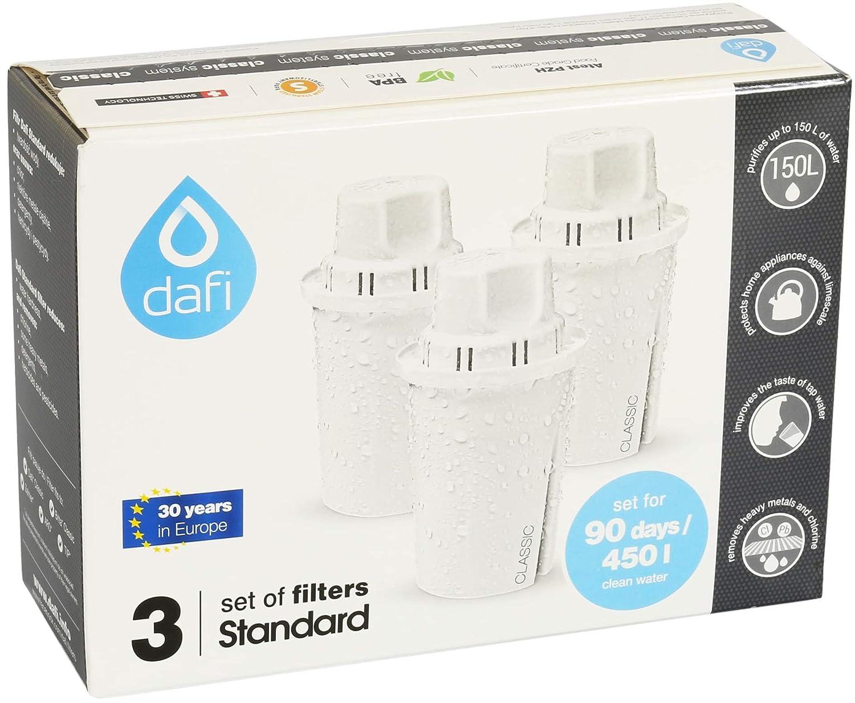 Jarra de cristal de filtro de agua Dafi Crystal Classic 2.0L incluye 1 filtro Blanco