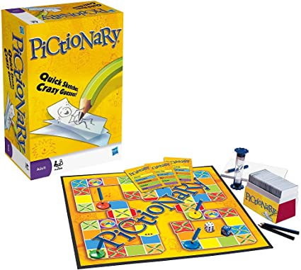 Pictionary Board and Card Game: Amazon.es: Electrónica