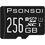 Psonsoi Memory Card 256GB Class 10 - with sd Card Adapter (Standard Packaging)