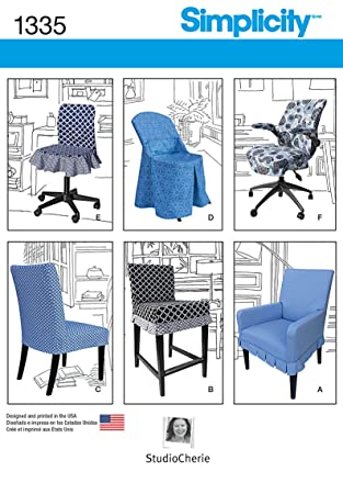 Amazon.com: Simplicity Creative Patterns 1335 Chair Covers for Ikea ...