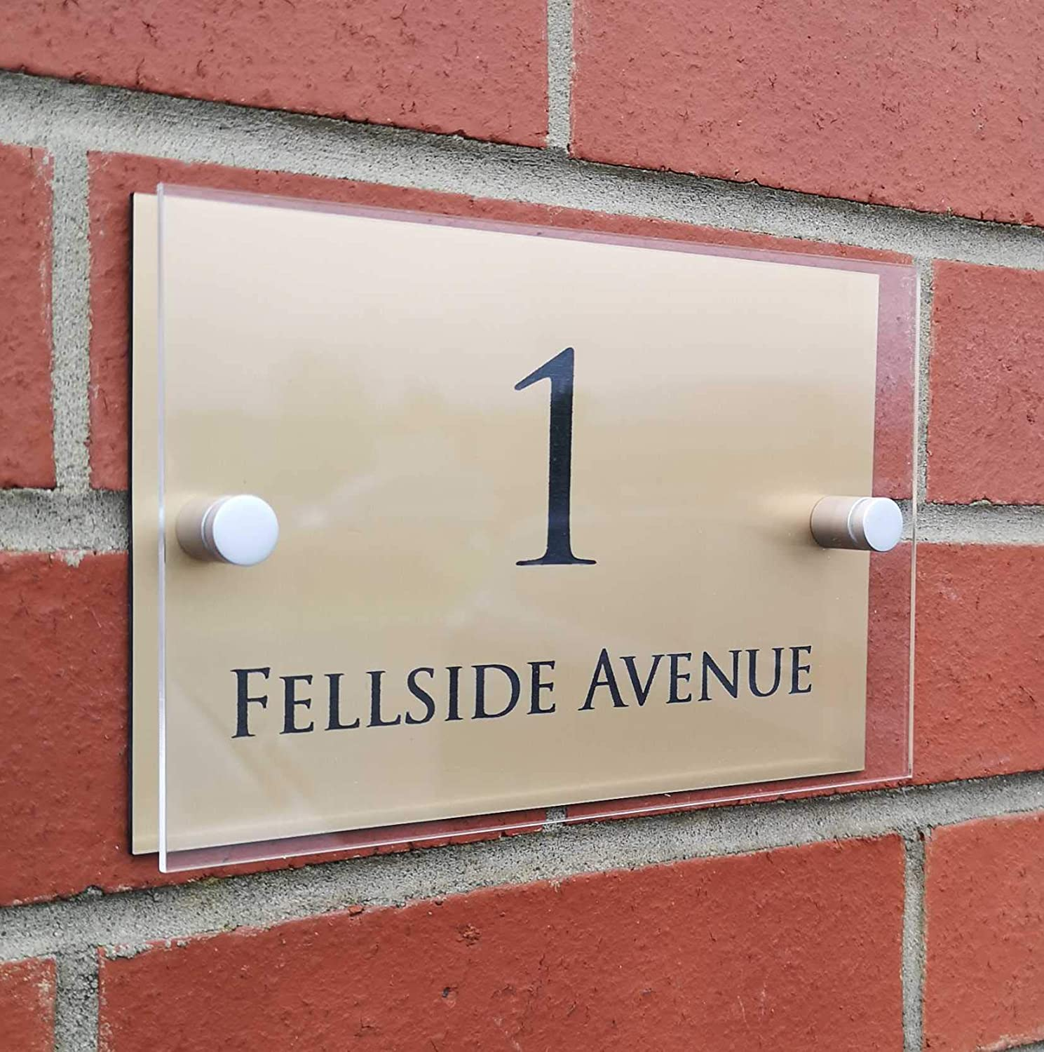 Choice of Colours Completely Customisable Home Address Plaque ...