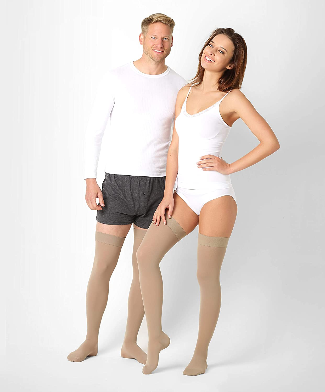 94e16d2b494a5d ®BeFit24 Medical Graduated Compression Stockings (23-32 mmHg, 120 Denier,  Class 2) for Men and Women - Best for Varicose Veins Support, DVT, Oedema,  ...