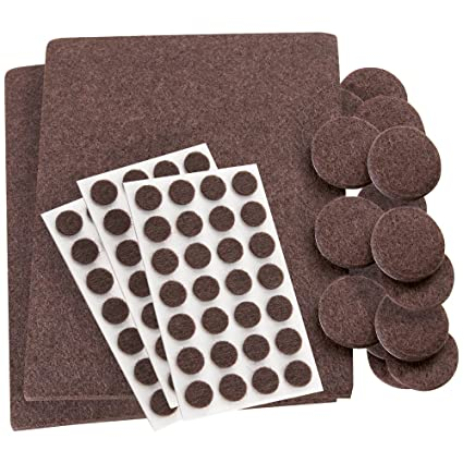 Delicieux SoftTouch Self Stick, Heavy Duty Furniture Felt Pads Combo Pack! Use On All