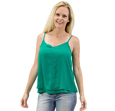 7f30cefcadf349 2 For 1 Clothes Women V Neck Essential Layered Cami Tank Tops With  Adjustable Spaghetti Straps