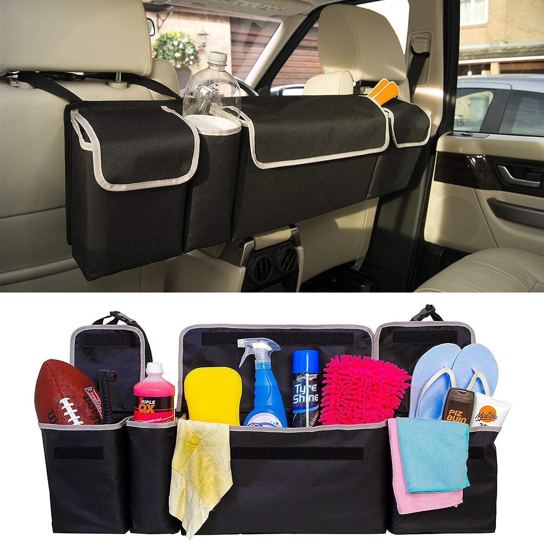Queiting 2in1 Heavy Duty Trunk Organizer Car Boot Organiser Foldable Bag Multi-use Backseat Storage Bag Oxford Cloth Car Accessories