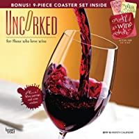 Uncorked 2019 Calendar: For Those Who Love Wine: Includes 9 Coasters