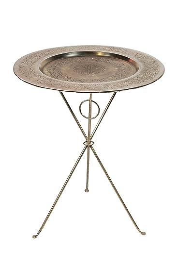 Marokkanischer Tisch Beistelltisch Aus Metall Prya ø 60cm Rund