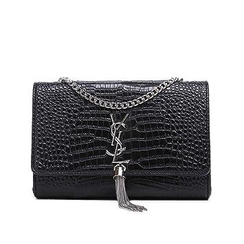 2019 Fashion One Shoulder Bags Crossbody Bolsa de Cuero Bolsa de pañales para bebé de Gran Capacidad para Mujeres (17 * 13 * 6 cm, Serpiente Negra): ...