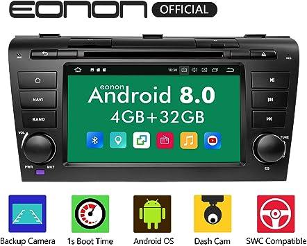 Eonon Autoradio 17 8 Cm 7 Zoll Android 8 0 32 Gb Rom Gps Navigationsgerät Kompatibel Mit Mazda 3 2004 2009 Unterstützt Bluetooth Wifi Verbindung Ga9151b Navigation