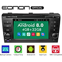 Bluetooth Android 8.0 Car Stereo Radio, Eonon 4GB RAM +32GB ROM Octa-Core 8 Inch in Dash Touch Screen Applicable to Mazda Speed 3 2004,2005,2006,2007,2008 and 2009 Support WiFi,Fastboot -GA9151B