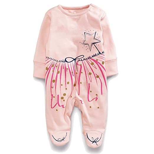 706160613 Amazon.com  Newborn Baby Girls Fall Winter Long Sleeve Jumpsuit Warm ...