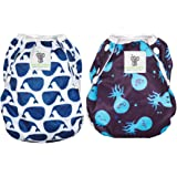 Sarah-Jane Collection Swimming Nappies - Set of 2 Stylish Swim Nappies Reusable for Baby & Toddler Eco-Friendly, Washable, Grows with Your Baby - One Size fits Most