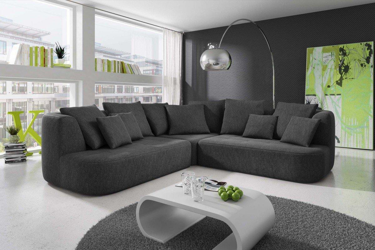 wohnzimmer farbe anthrazit : Dreams4home Ecksofa Sigi Couch Sofa Ecksofa Wohnzimmer
