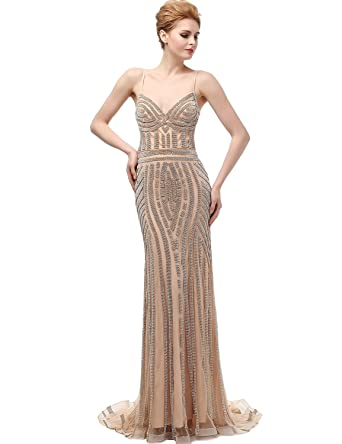 441f82734dd Belle House Women s Spaghetti Long Prom Dress Mermaid Evening Pageant Gown