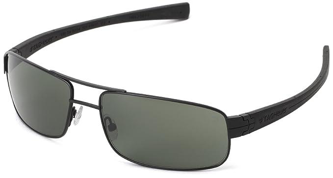 Tag Heuer LRS 254 301 rectangular gafas de sol, Negro, 61 mm ...