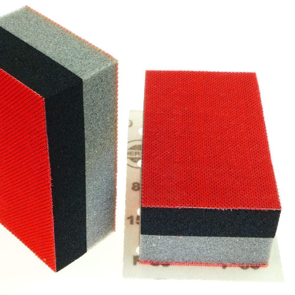 Bloque de pulido adherente, parte suave y dura, para discos de lijado HERMES