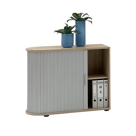 FMD Möbel Sb-Design - Archivador para documentos (madera de roble, 72 x