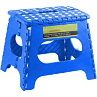 "Greenco Super Strong Foldable Step Stool for Adults and Kids, 11"", Blue"