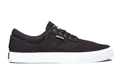 e1292fb329 Supra Footwear - Cobalt Low Top Skate Shoes, Black-White, 5.5 M US