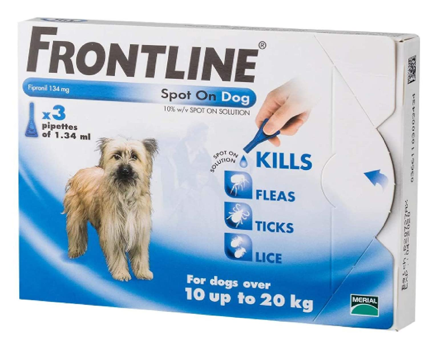 2X Leeway FRONTLINE SPOT ON MEDIUM DOG (3 PIP) 1020KG FLEA TICK & MITE KILLS & PREVENTS (2X)
