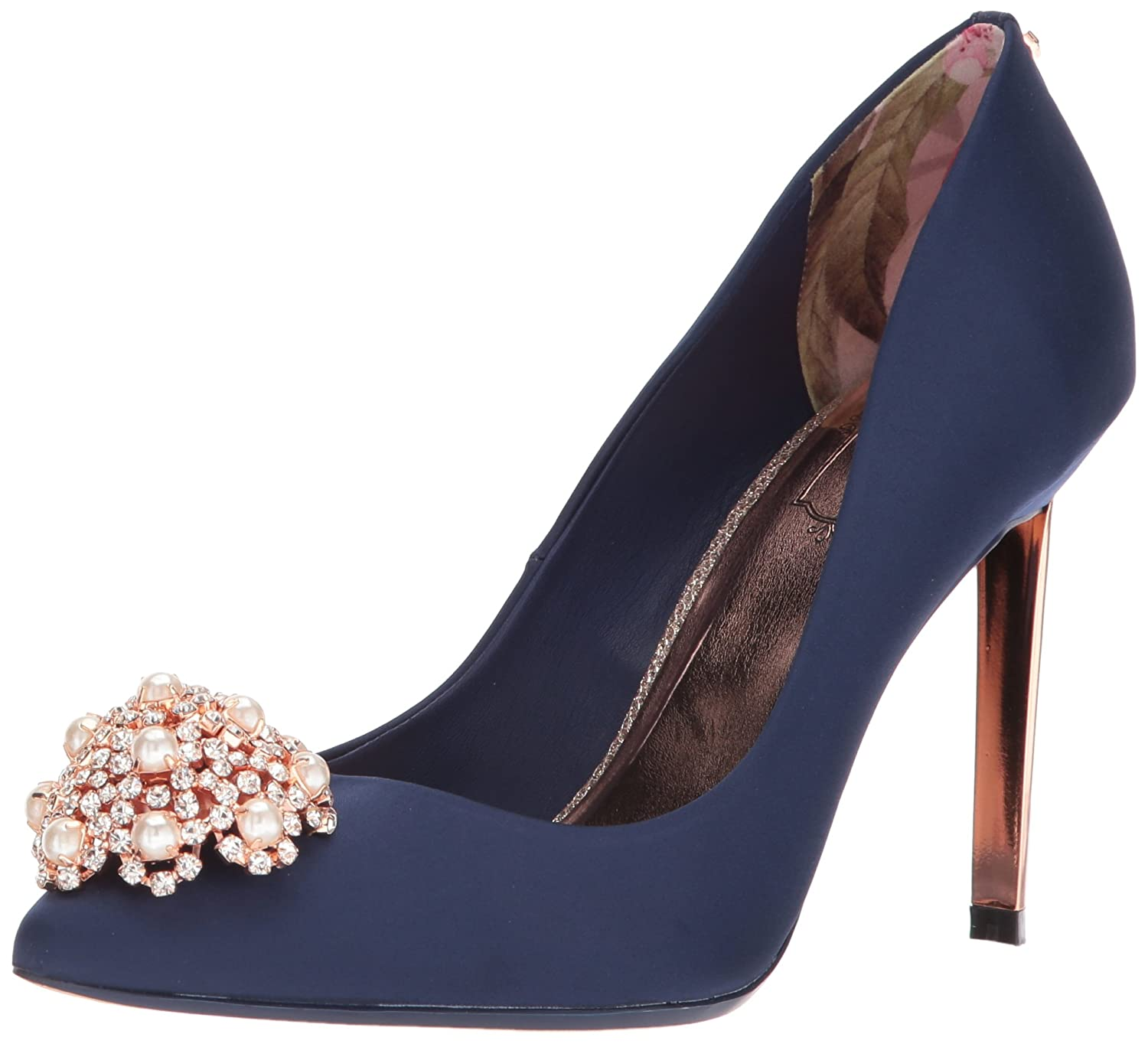 Ted Baker Women's 2 Peetch 2 Pump B071GFXCWT 8 M US|Navy Satin