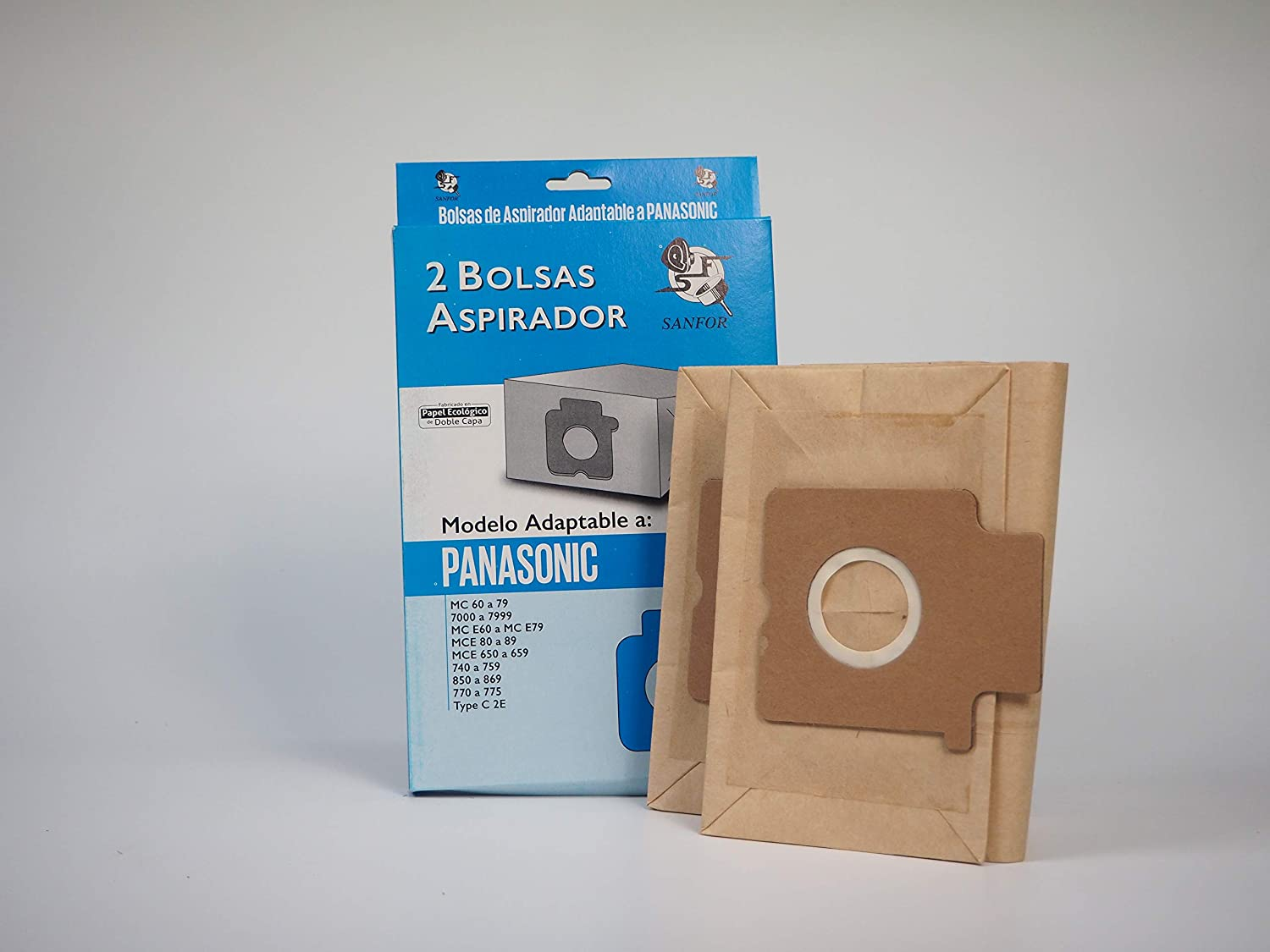 Amazon.com: Sanfor 80670 Panasonic Vacuum Bag, Paper ...