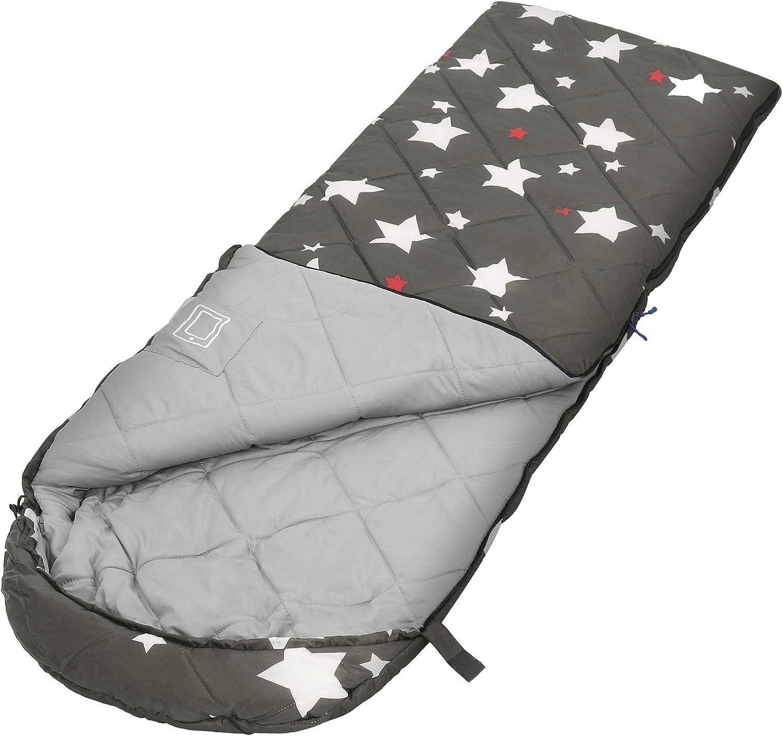 para Camping con Patr/ón de Estrellas SONGMICS Saco de Dormir Port/átil