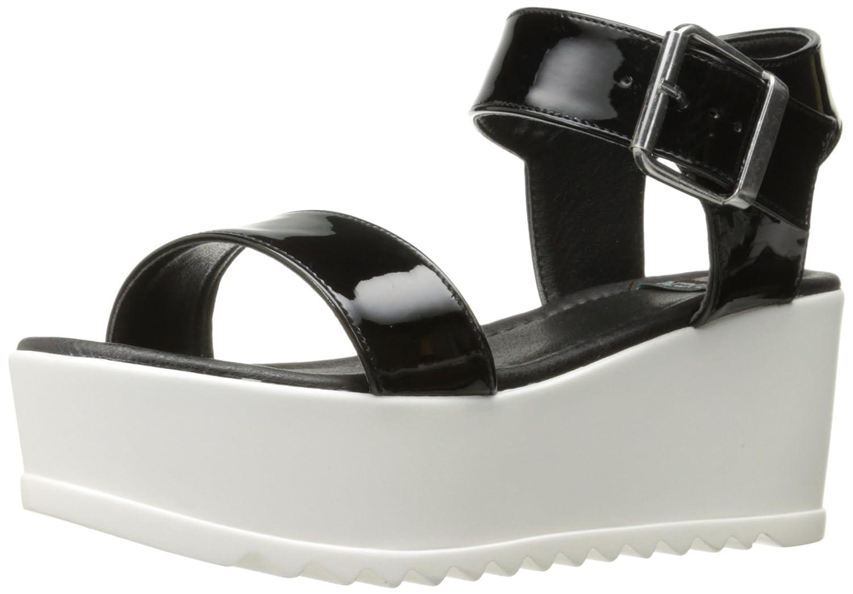 N.Y.L.A. Women's Sanda Platform Sandal B06VSQYTDL 10 B(M) US|Black Patent