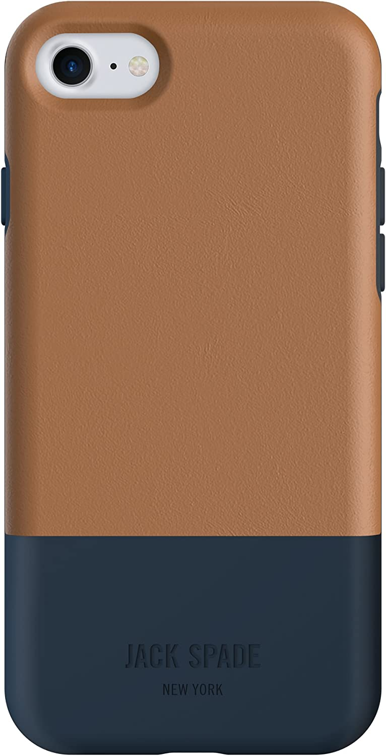 JACK SPADE Cell Phone Case for Apple iPhone 7 - Fulton Tan/Navy