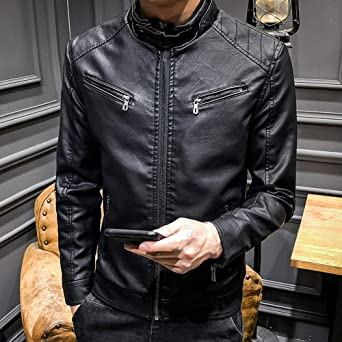 Waterproof Winter Jackets for Men Leather Jacket Men at Amazon Mens Clothing store:
