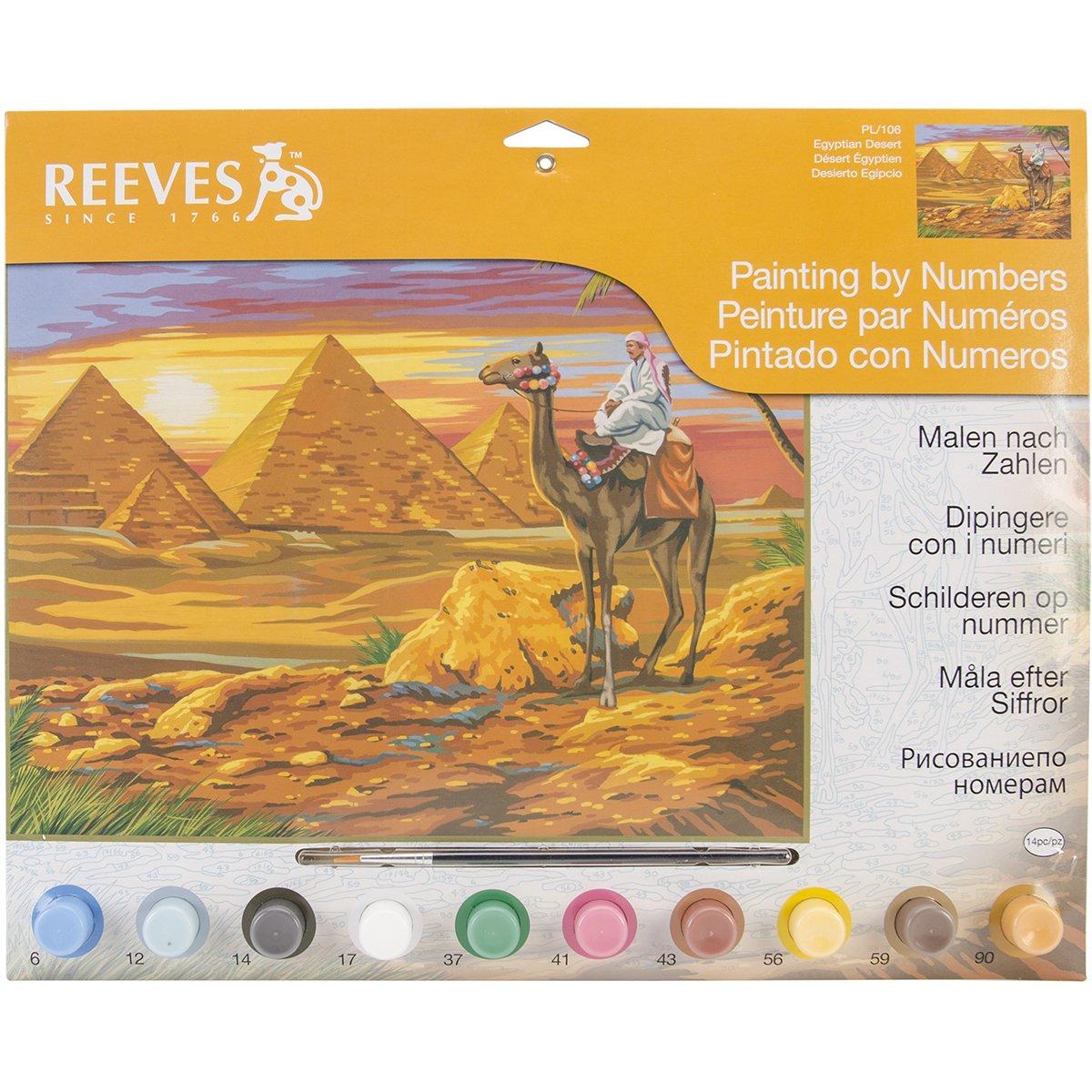 Reeves - - Pintar por Números - Reeves Set de pintura grande, diseño de flores 1ce4b7