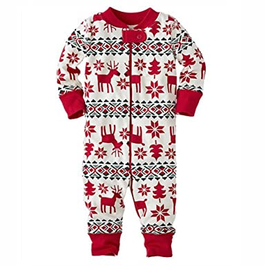 62744ef1d Family Matching Christmas Pyjamas Set Dad Mom Kids Baby Sleepwear ...