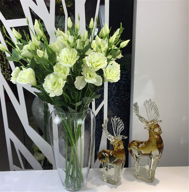 Skyseen 造花 ユストマ グランドフロルム フェイクリシャントスの花 6個セット ホワイト B07H6KQ4PZ