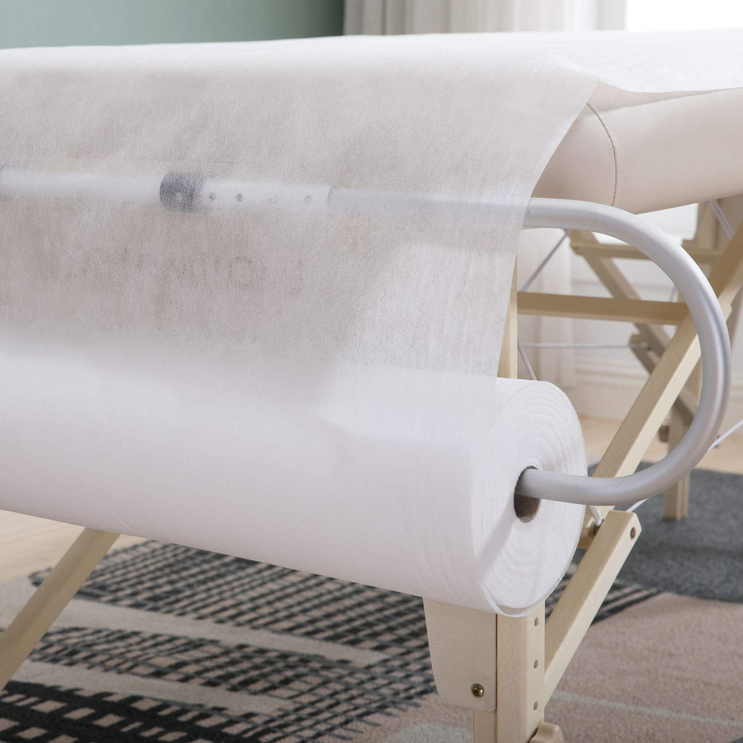"""DR.LOMILOMI Disposable Non-woven Perforated Cover Sheet Roll (W31.5"""" X L71"""") for Massage Table (1 Roll) : Beauty"""