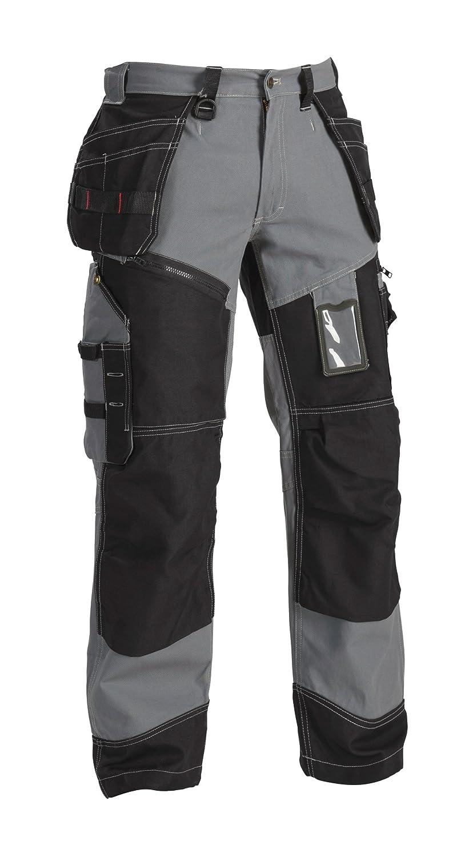 C44 Schwarz Bl/åkl/äder 15001370 Werker Hosen X1500 Grau