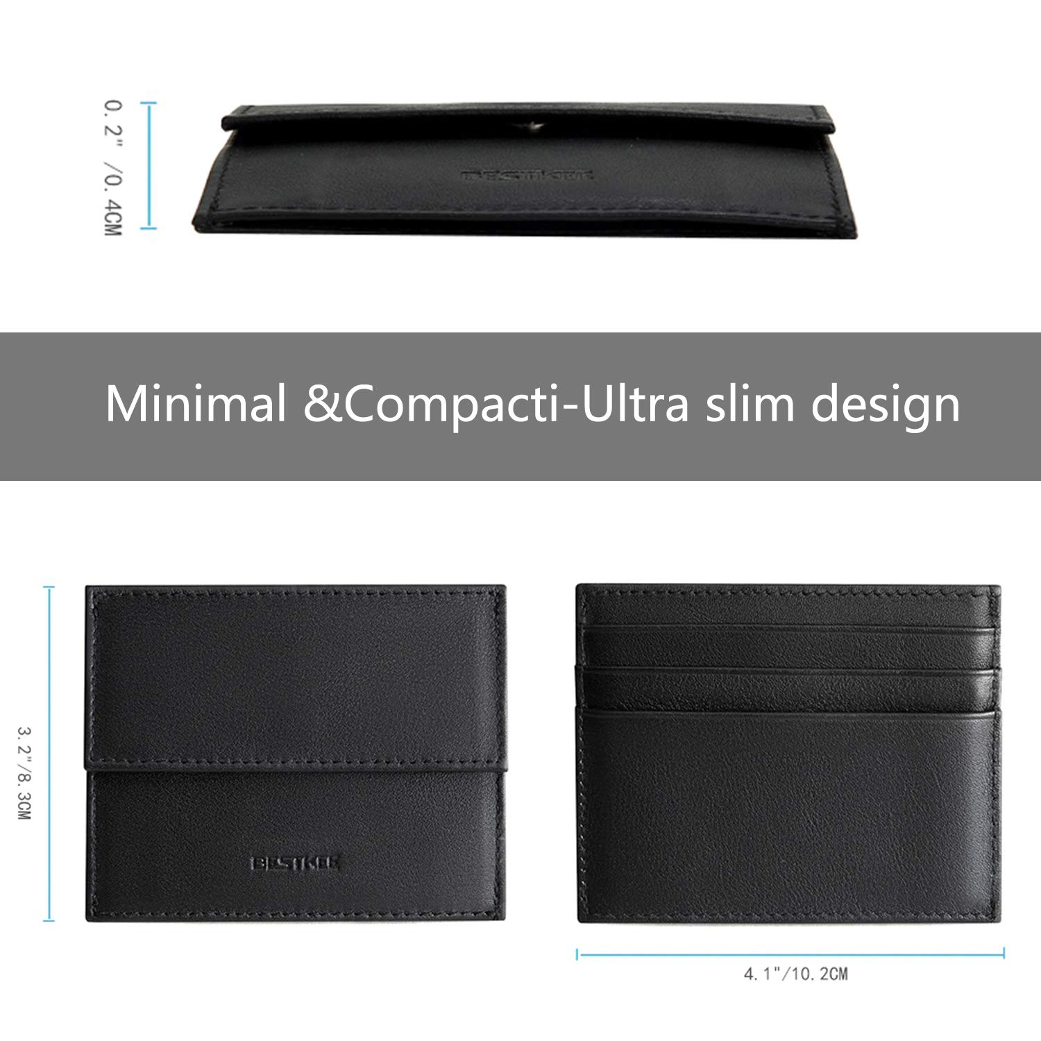 07f5a1f3eb71 Amazon.com  Bestkee Slim Credit Card Holder