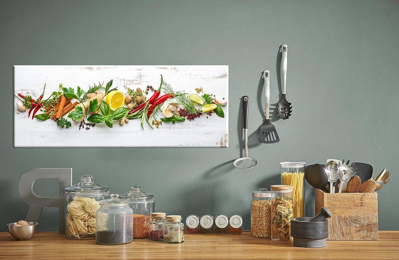 Küchenbild Shabby Herbs | Kräuter Glas Glasbild Wandbild | 4 mm ...