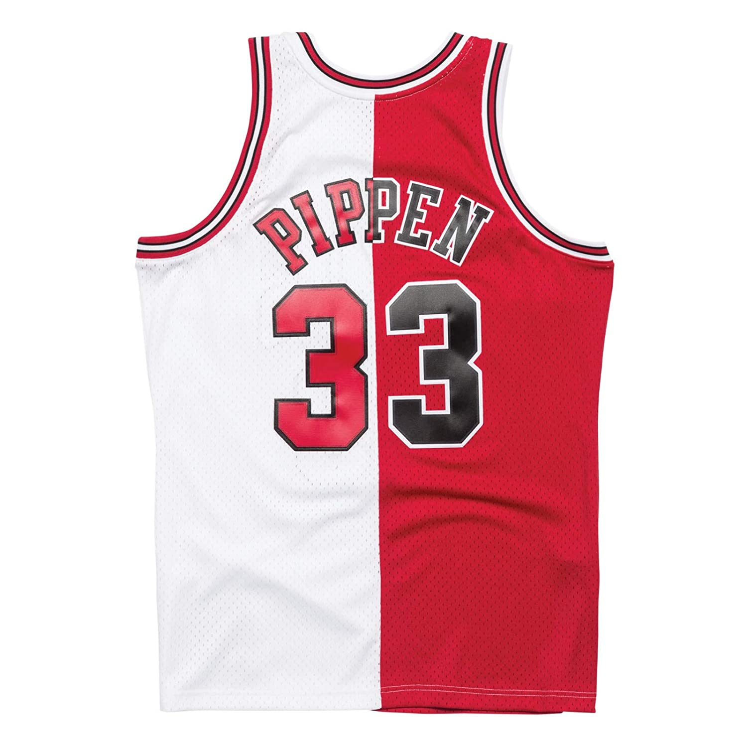 0252fba4405a Amazon.com   Mitchell   Ness Scottie Pippen Chicago Bulls Split Home   Away Swingman  Jersey   Sports   Outdoors
