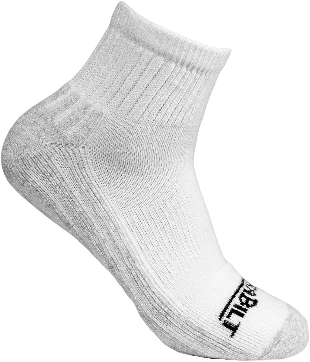 DURABILT Adult White Cotton Ankle Comfort Sport Sock 3pk Size 9-10