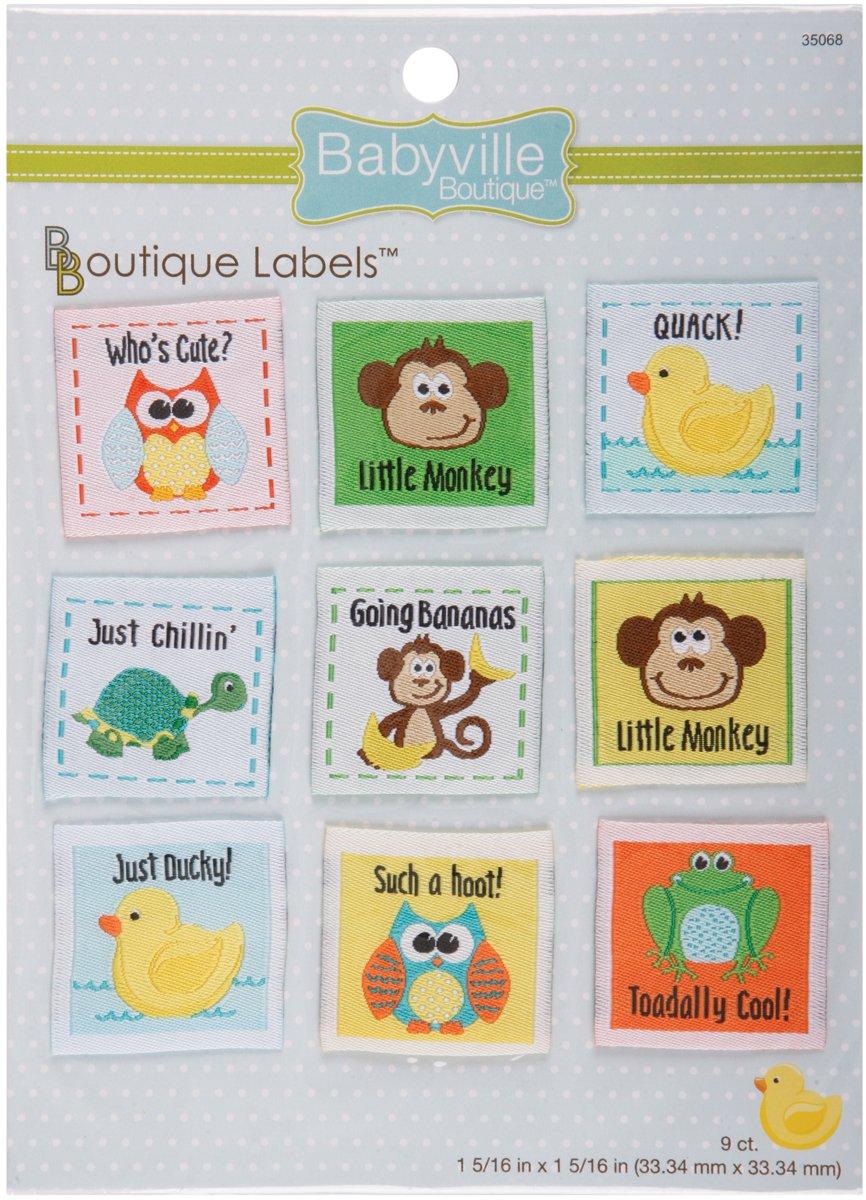 9-Count Babyville Boutique 35274 Labels Little Birds /& Flowers