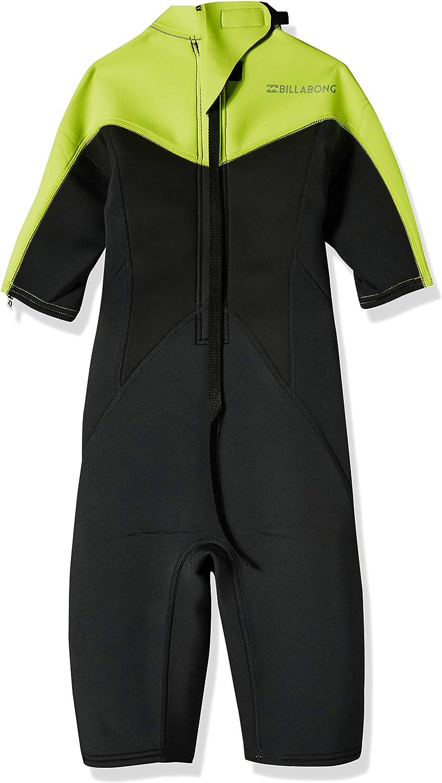 Billabong Boys Foil 3//2 Back Zip Spring Suit