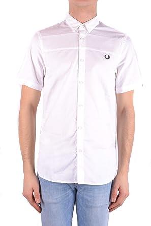 Fred Perry Luxury Fashion Hombre MCBI32404 Blanco Camisa | Temporada Outlet: Amazon.es: Ropa y accesorios