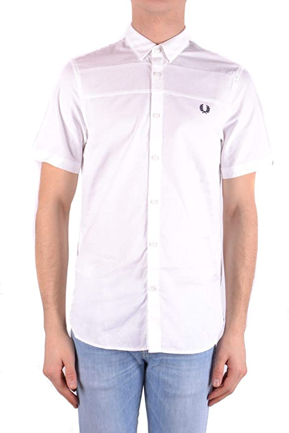 Fred Perry Luxury Fashion Hombre MCBI32404 Blanco Camisa | Temporada Outlet: Amazon.es: Ropa y accesorios
