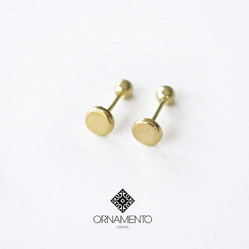 nuevo producto b1453 a791a Aretes Bebe Niña Oro 10 K: Amazon.com.mx: Handmade