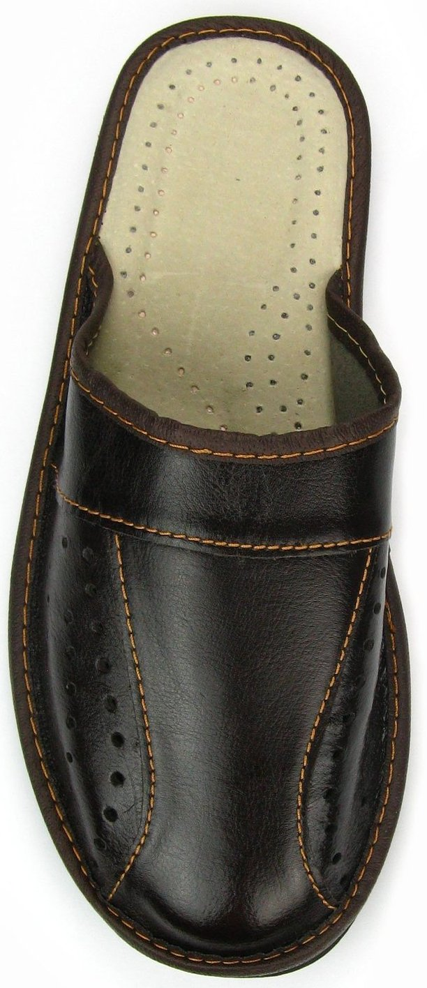 World of Leather Mens House Slippers Genuine Leather,Black,14 D(M) US by World of Leather (Image #1)