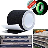 Anti Slip Tape Best Anti Skid Safety Tape Tread High Friction Strong Grip Abrasive - Improves Traction and Prevents Risk of Slippage for Indoor Outdoor Stair Ramp Ladder Forklift Boat Dock 4''X16 feet