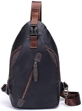 HASAGEI Shoulder Backpack Sling Bag Chest Bags Crossbody Backpack Messenger  Bag Small Black 6e9024e9d4b1