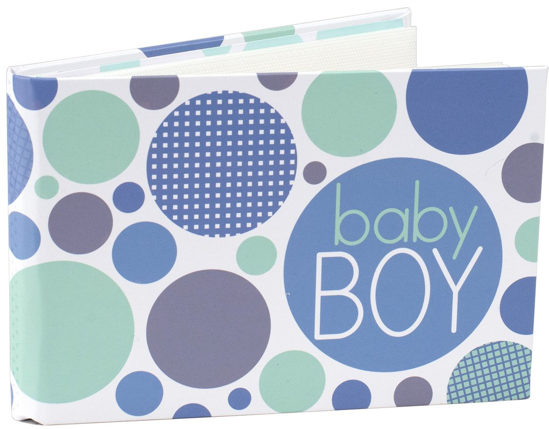 Malden International Designs Baby Boy Photo Album, 40-4x6, White
