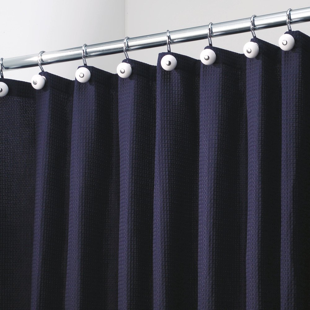 Amazon.com: InterDesign York Hotel Fabric Shower Curtain, Long, 72 x ...